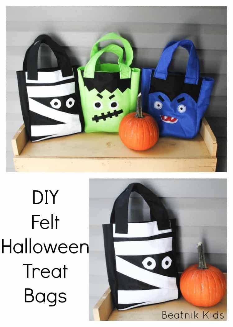 DIY felt Halloween treat bags