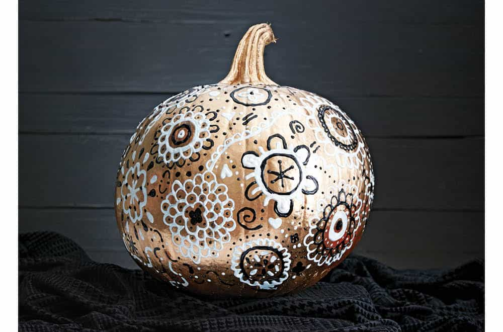 Decorate a pumpkin without carving