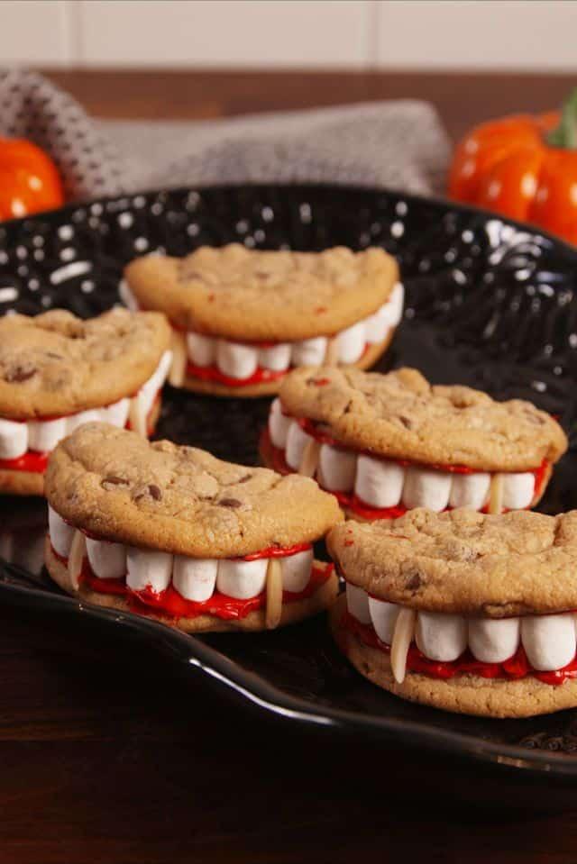 Dracula denture cookies