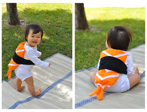 Easy baby sushi costume