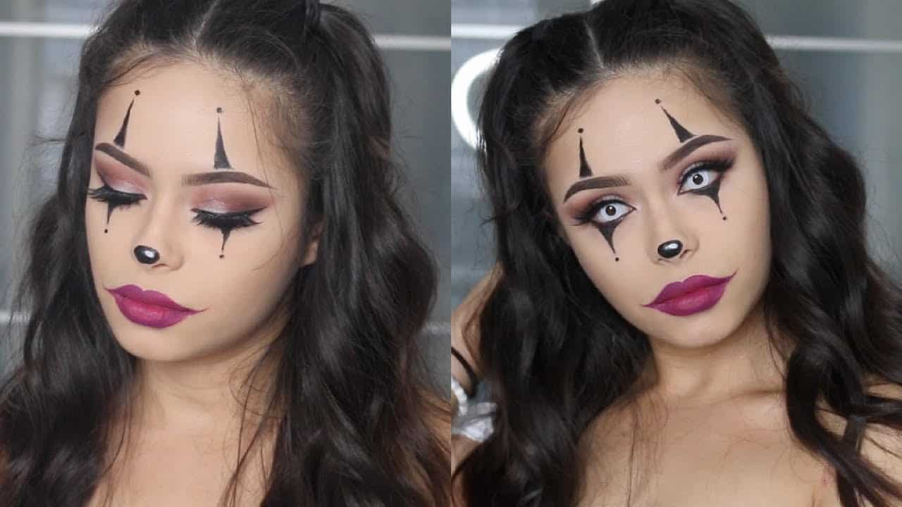 Easy clown Halloween makeup tutorial