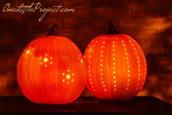 Easy drilled pumpkin project