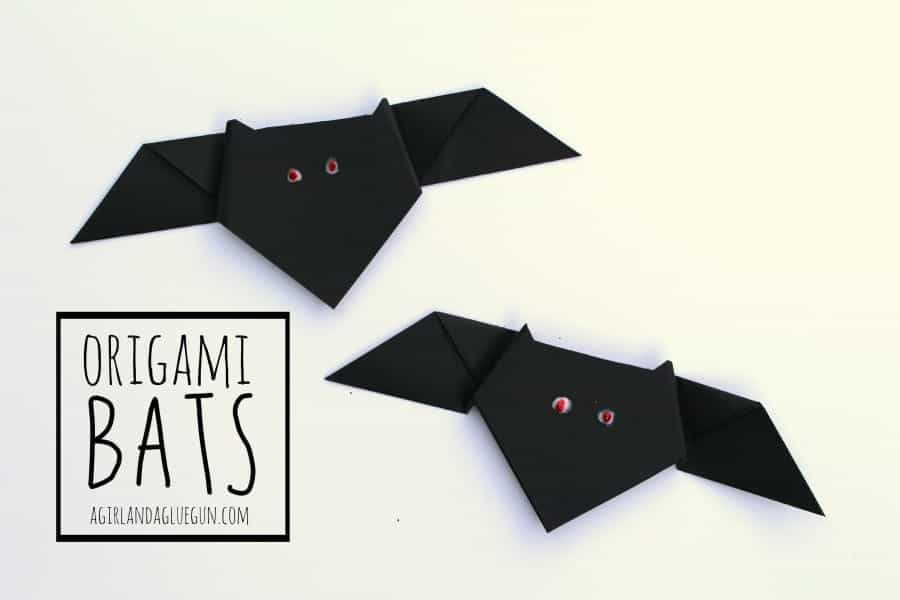 Easy origami bats 15 Bat Themed Crafts for Halloween