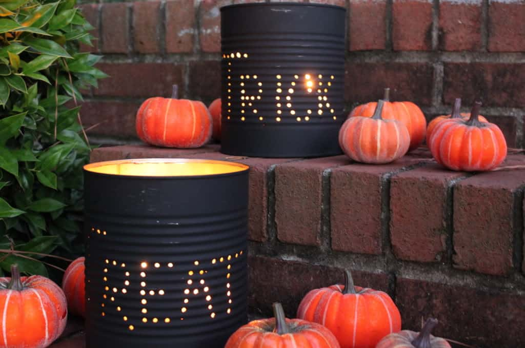 Halloween coffee can luminaries 15 Awesome Halloween Home Decor for Inside and Out