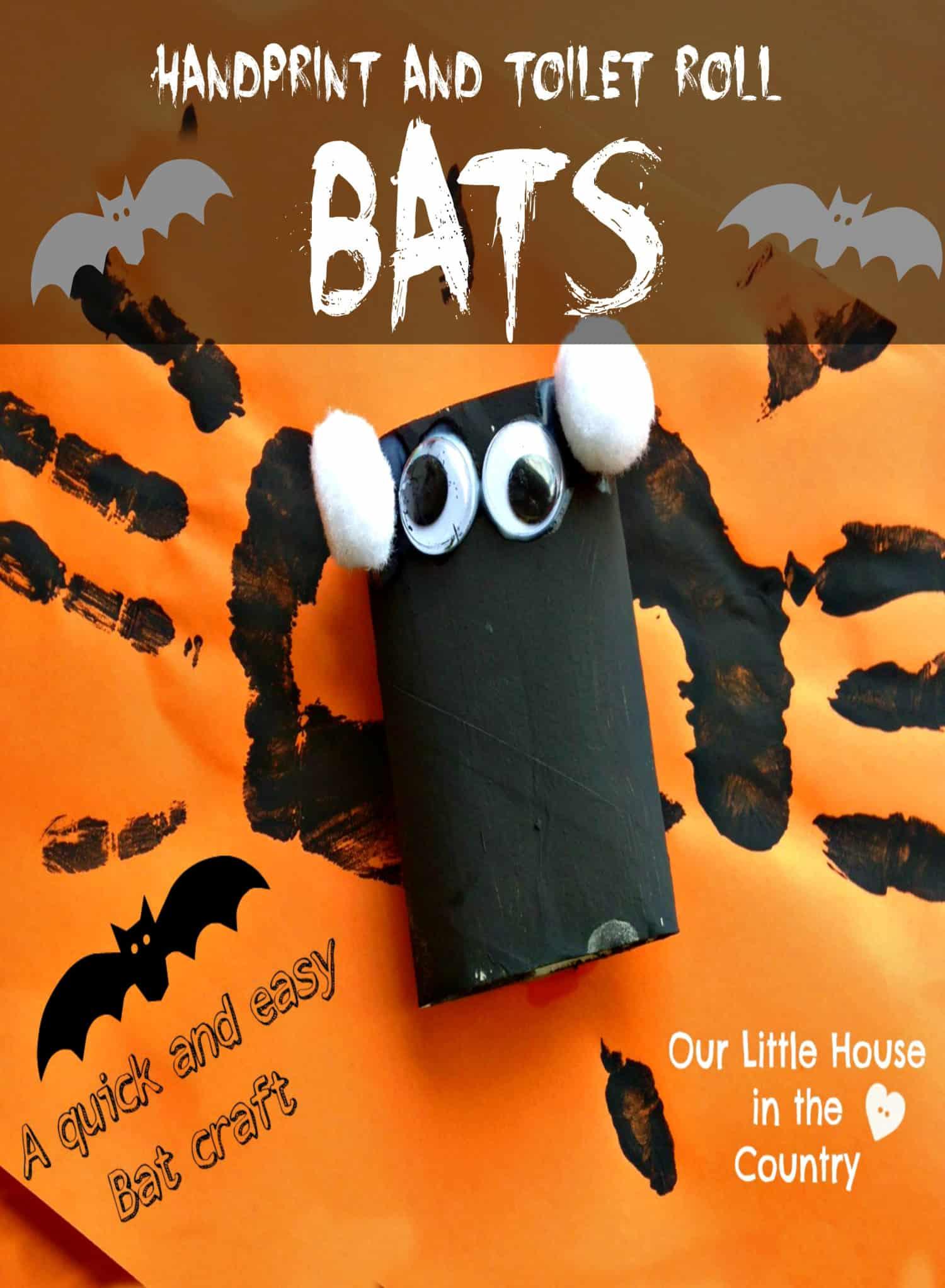 Handprint and toilet roll bats