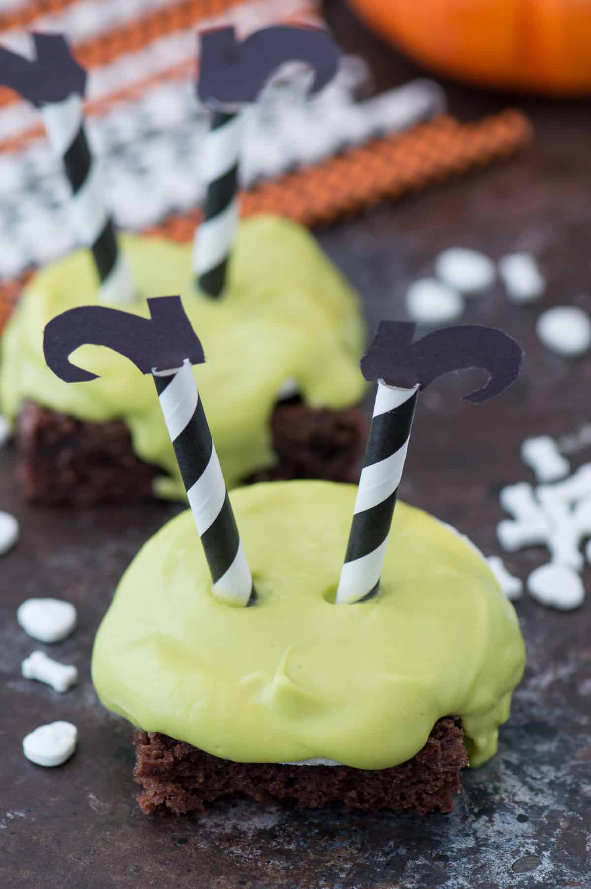 Melted witch's brownies