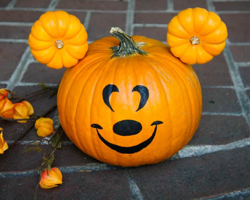 Mickey Mouse pumpkin made with mini pumpkins