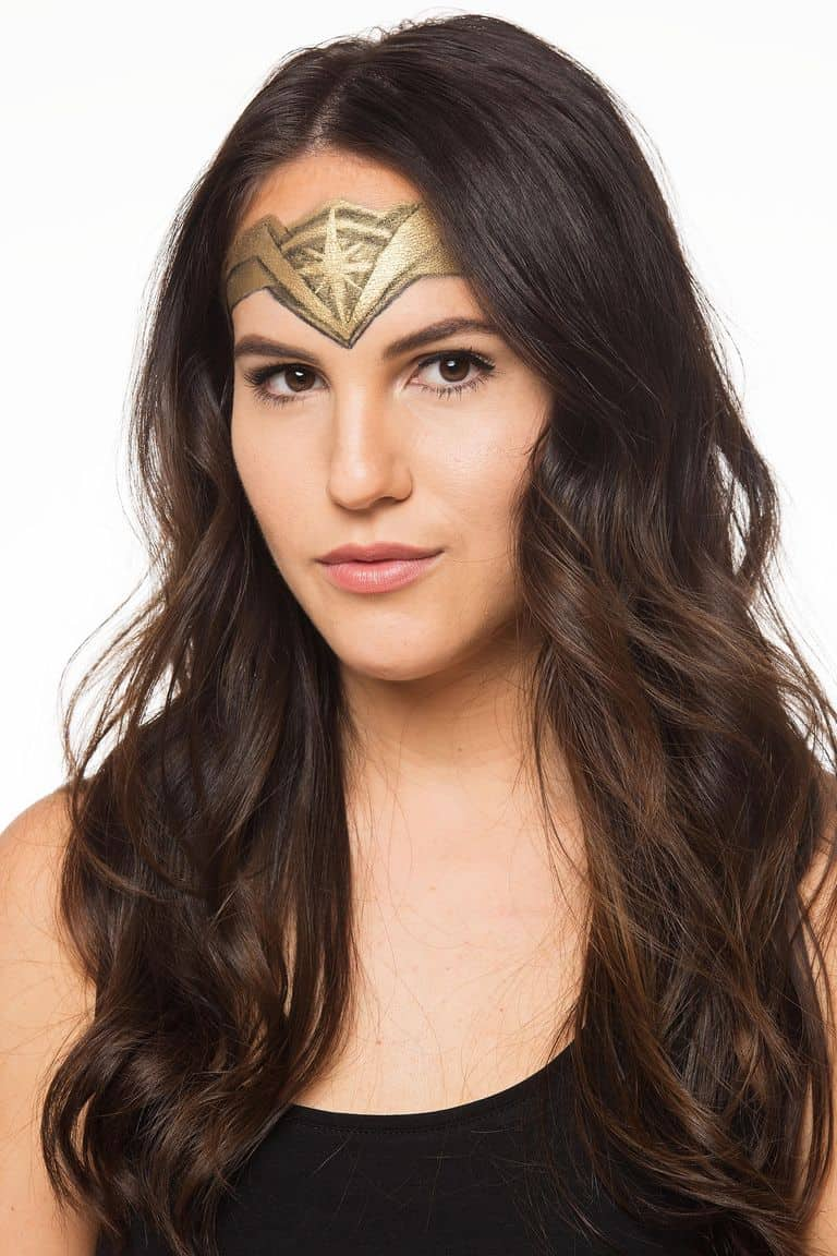 Painted Wonder Woman head piece