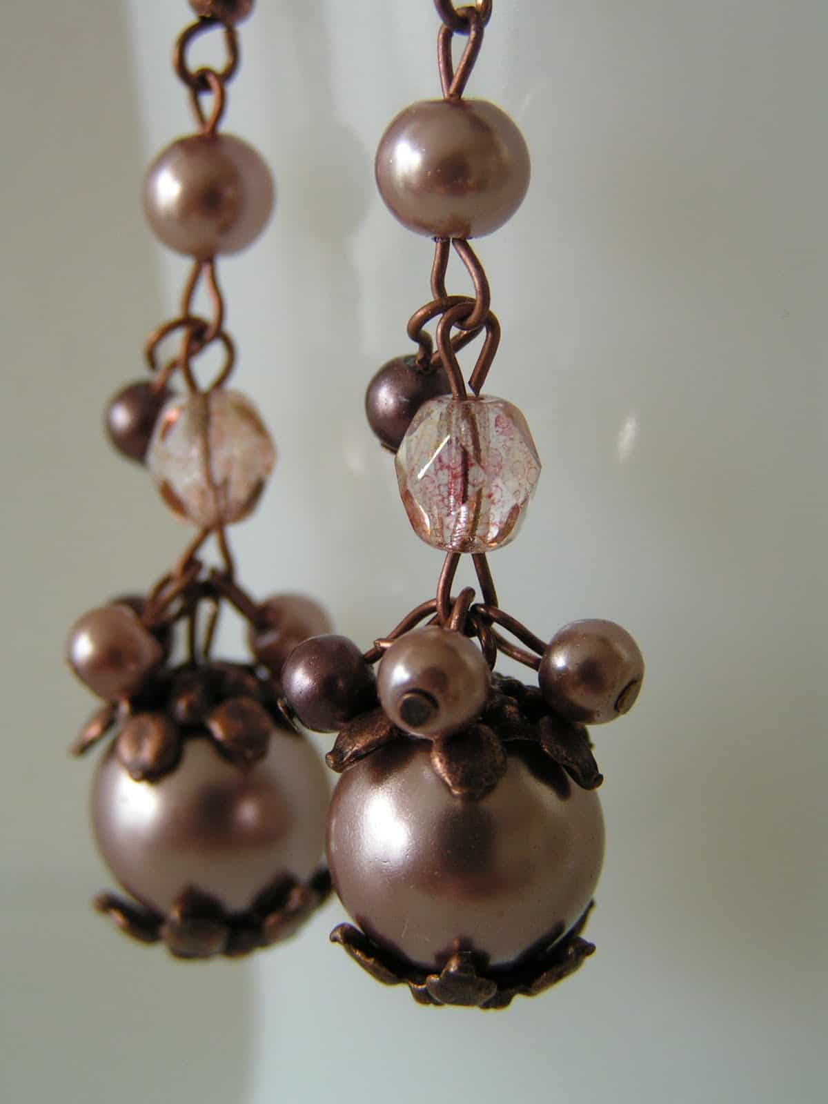Pretty fall and winter beaded earrings