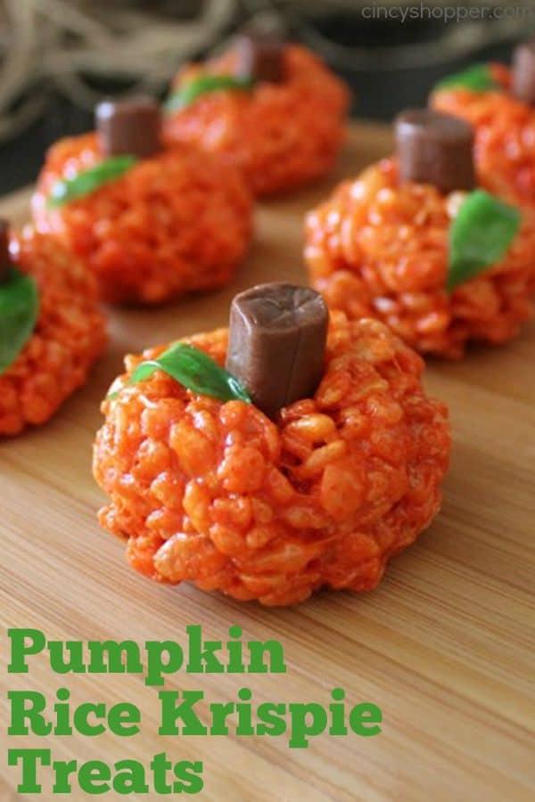 Pumpkin Rice Krispies treat