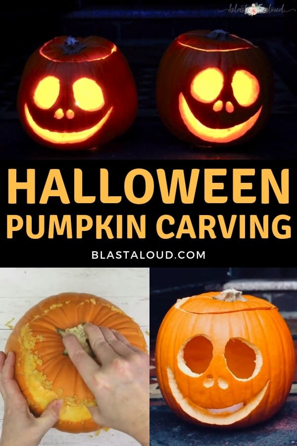 Pumpkin carving with simpler shapes for beginners