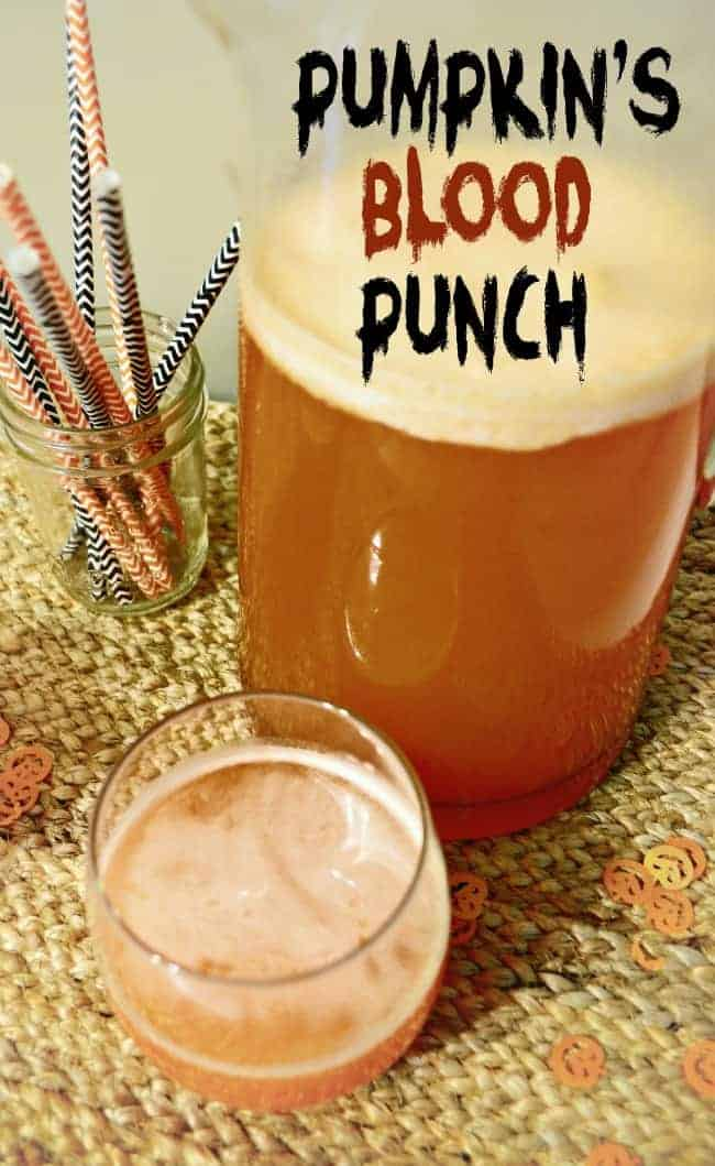 Pumpkins blood Halloween punch Halloween Homemade Punches for a Frightful Party