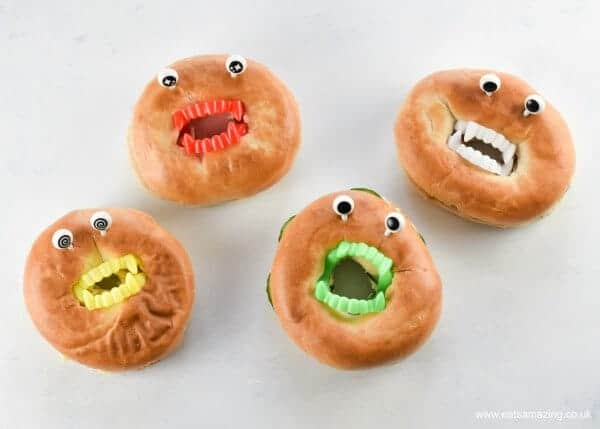 Quick and easy vampire bagels