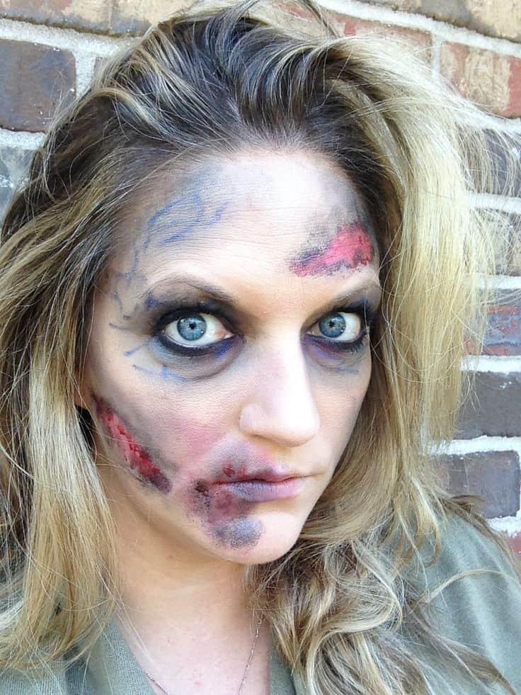 Simple zombie makeup 15 Creative Halloween Makeup Tutorials to Impress