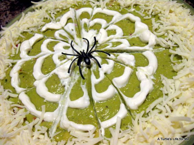 Spider web 7 layer dip 15 Fantastic Halloween Party Food Ideas