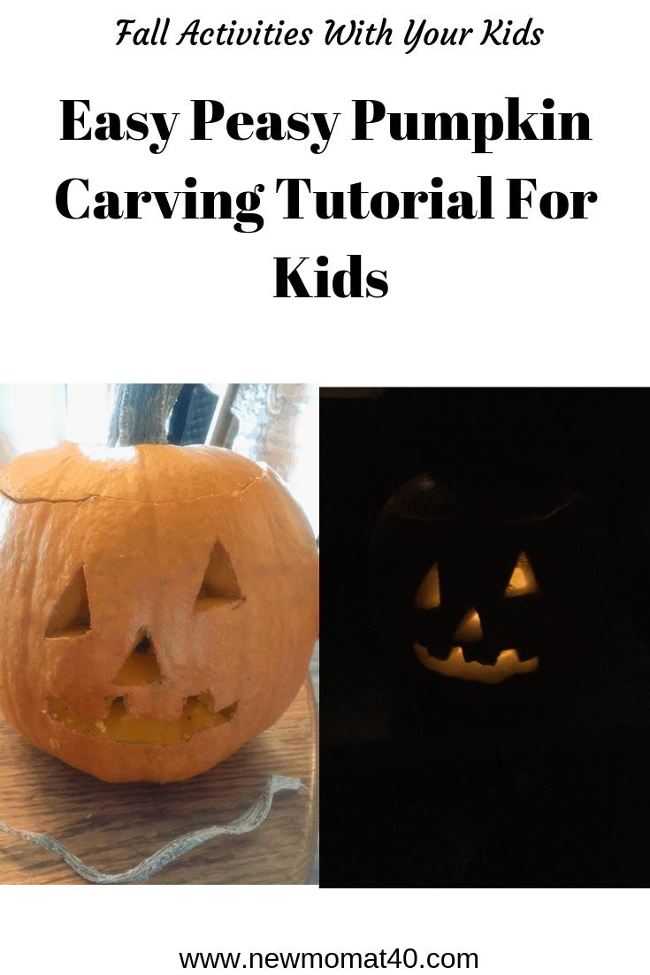 Super easy pumpkin carving for kids