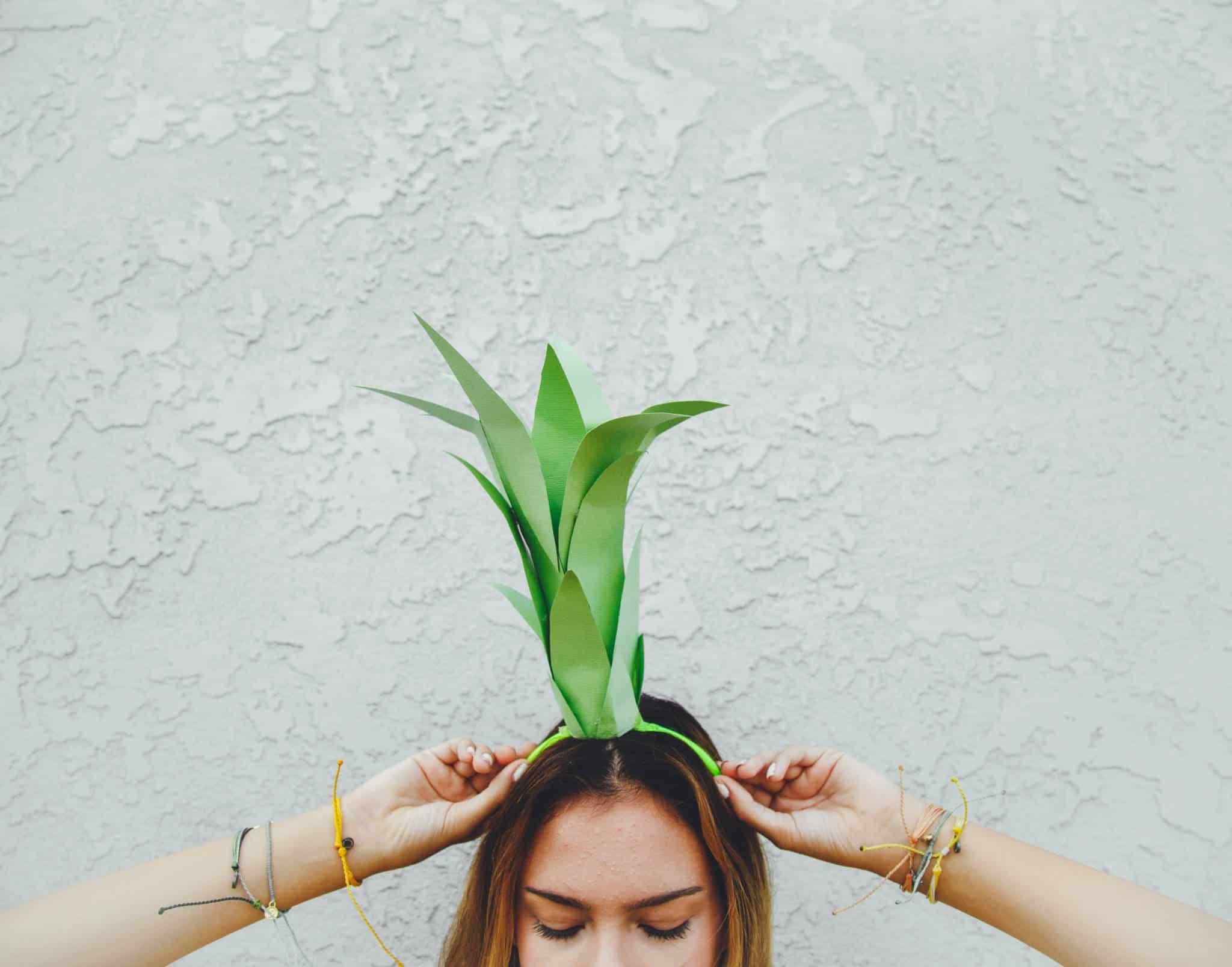 Super simple pineapple costume