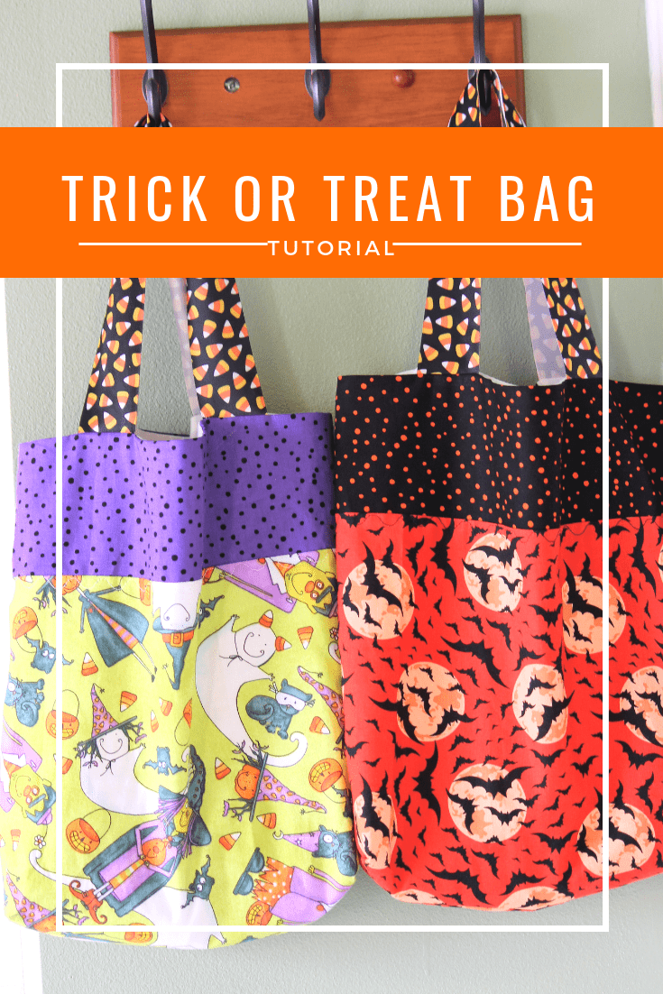 Three-toned trick-or-treat bags