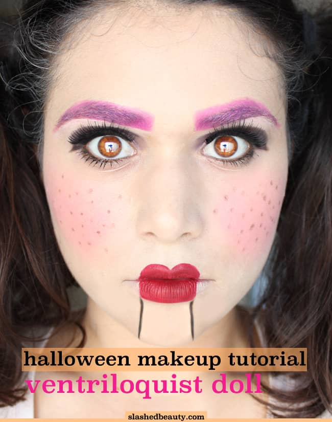 Ventriloquist makeup