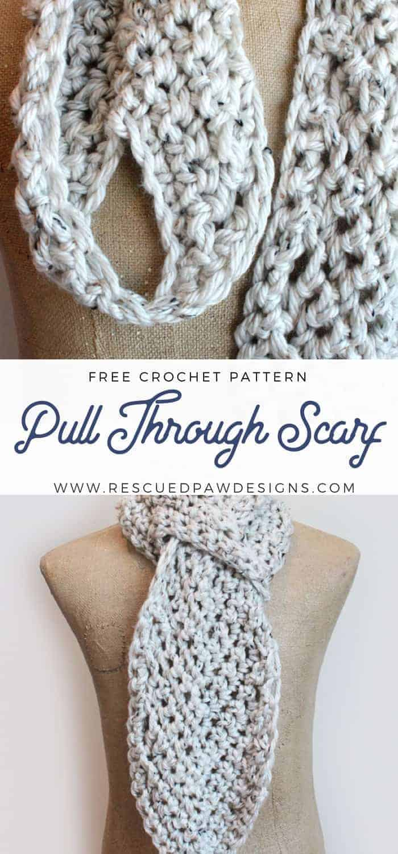 Adjustable crochet scarf