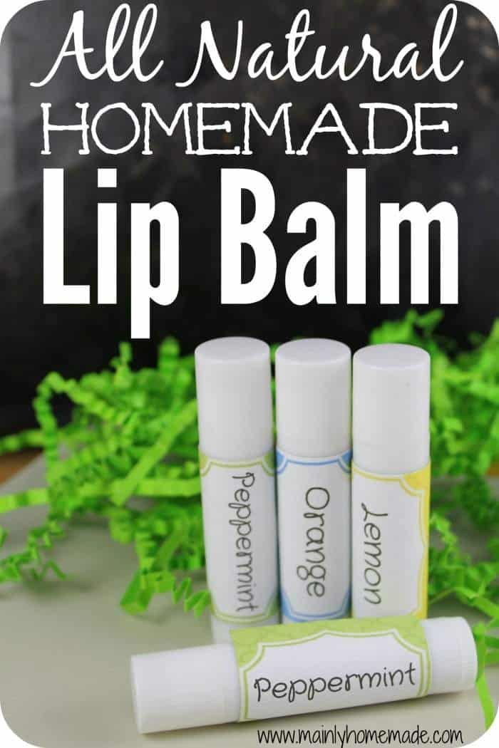 All naturally scented lip balm
