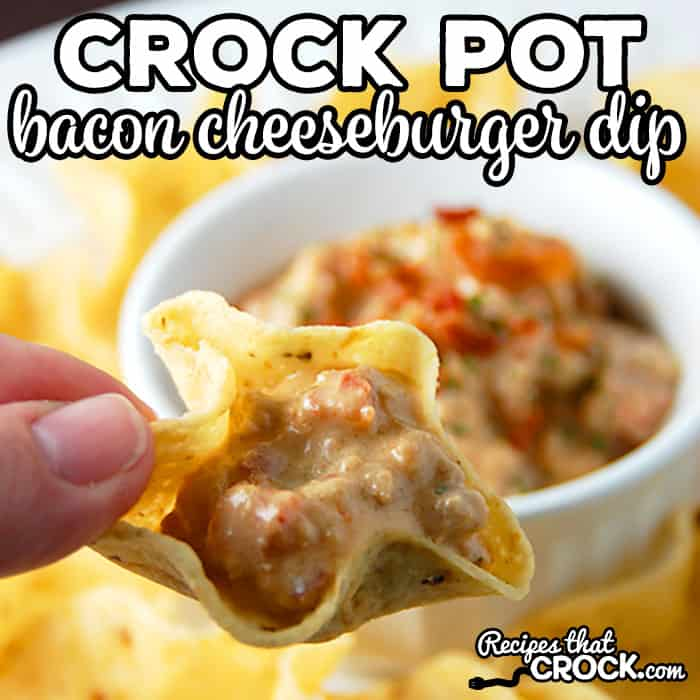 Bacon cheeseburger crockpot dip