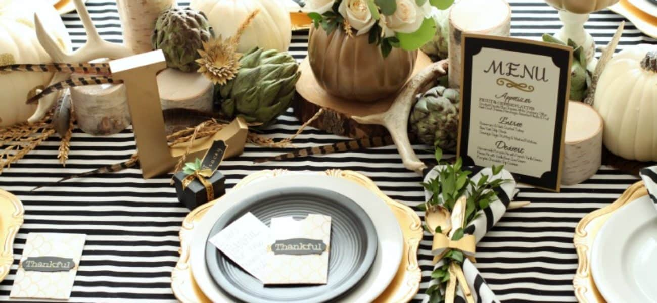 15 DIY Thanksgiving Tablescapes and Place Settings