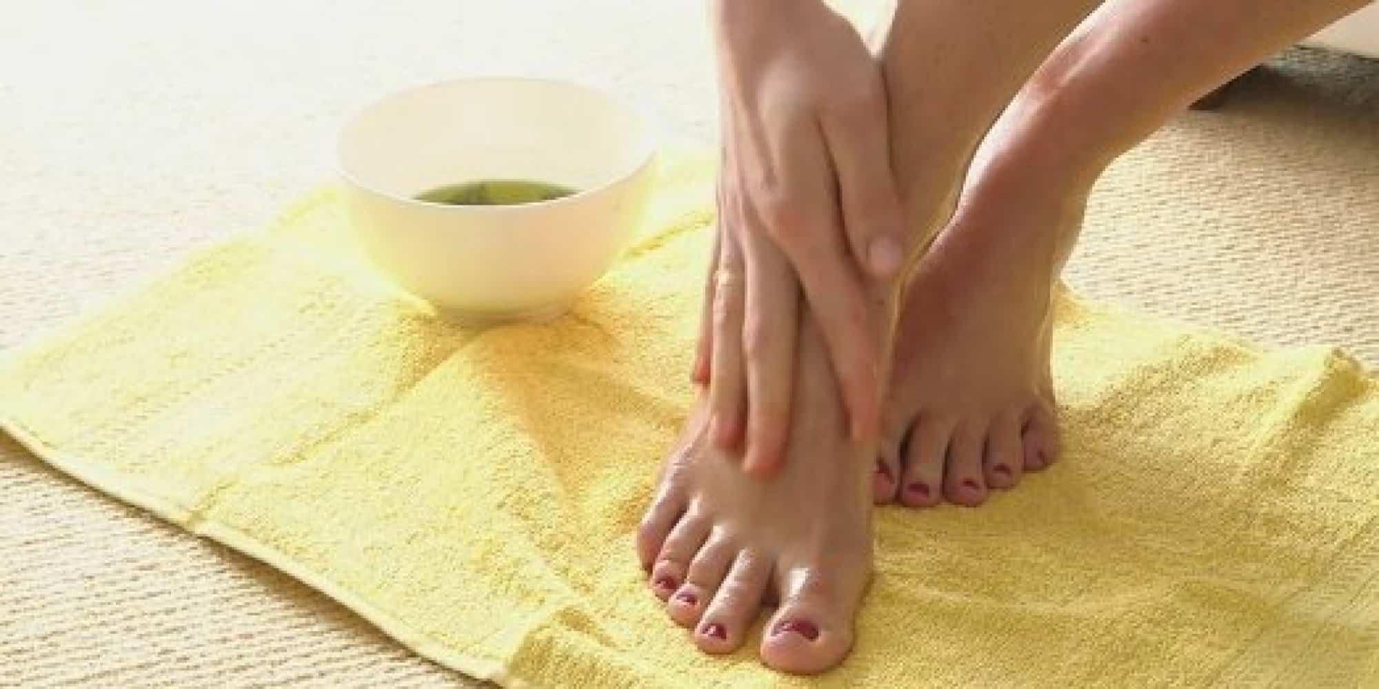 Camphor and honey foot scrub