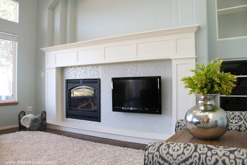 Craftsman style mantel and hearth