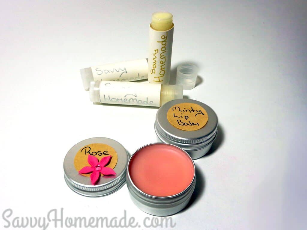 DIY flavoured lip balm and how to tint it