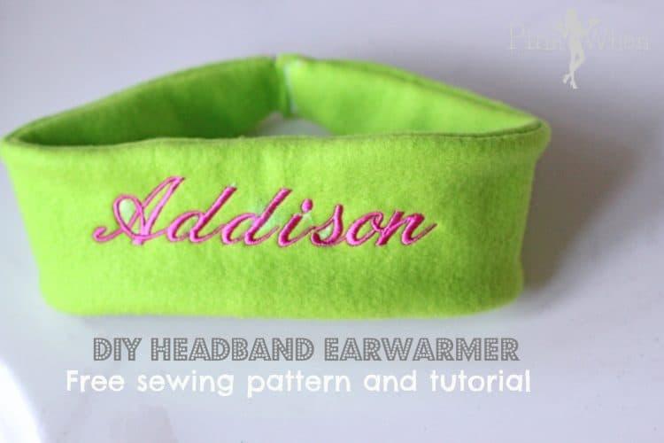 DIY fleece monoframmed headband
