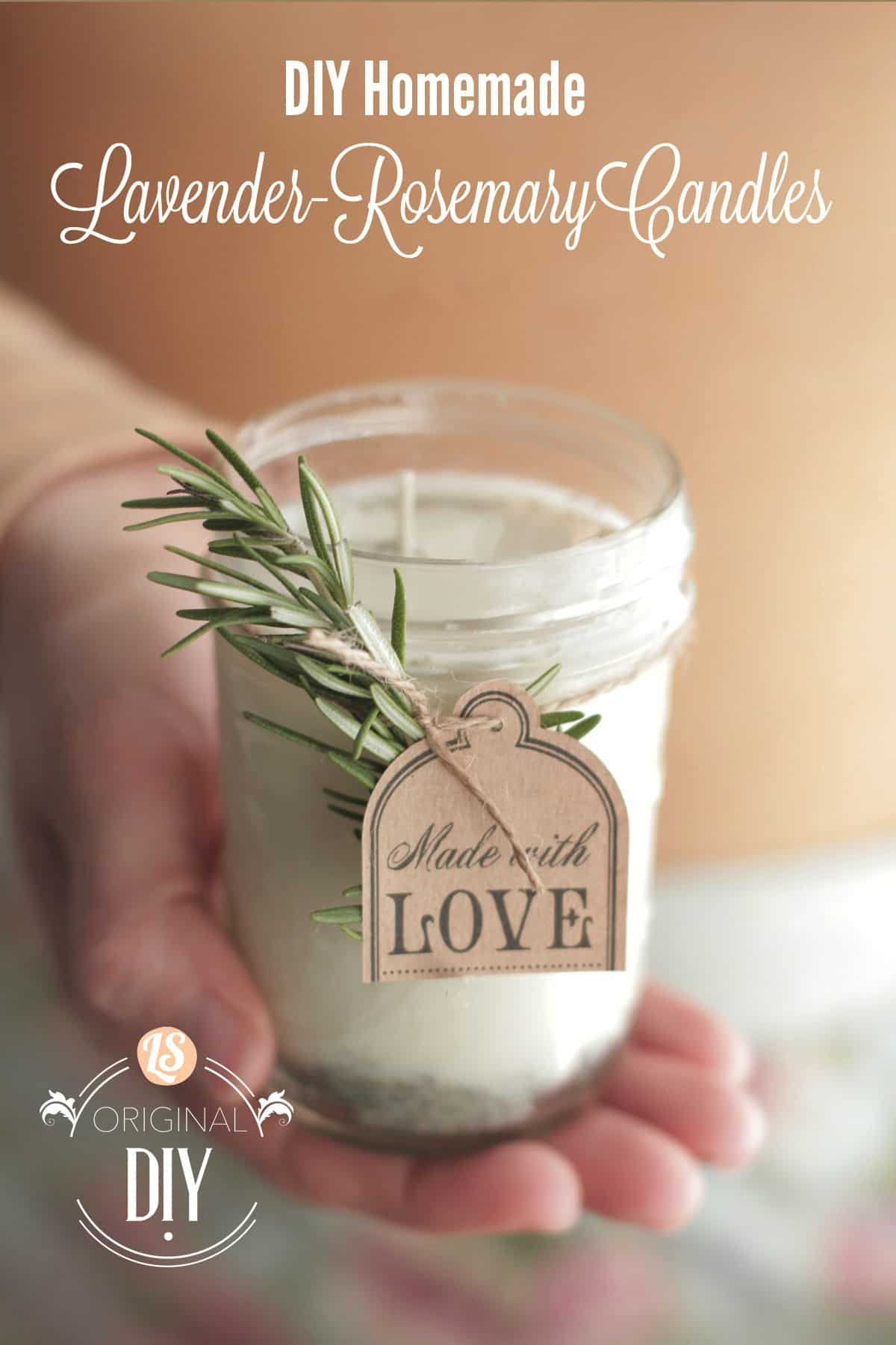 DIY lavender rosemary candles