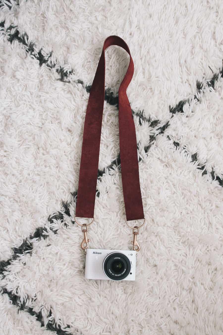 DIY leather camera strap