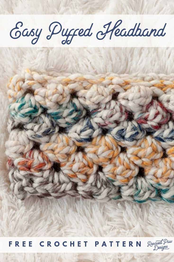 DIY puffed crochet headband