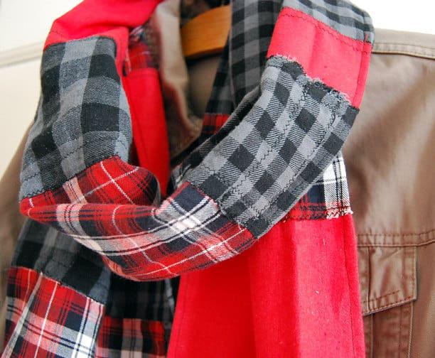 DIY rag patchwork scarf