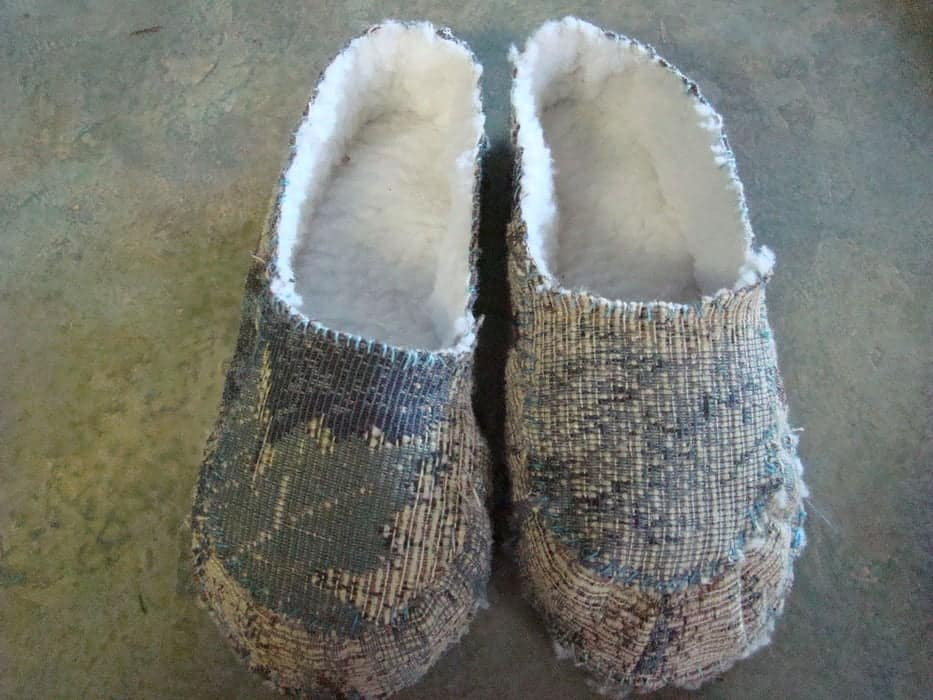 DIY soft lined slippers