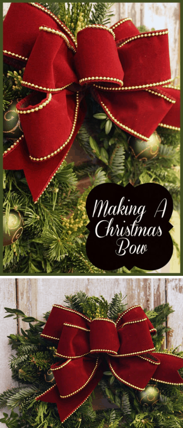 Decorative velvet Christmas bows