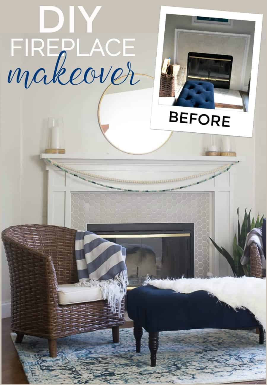 Drab to fab fireplace surround makeover