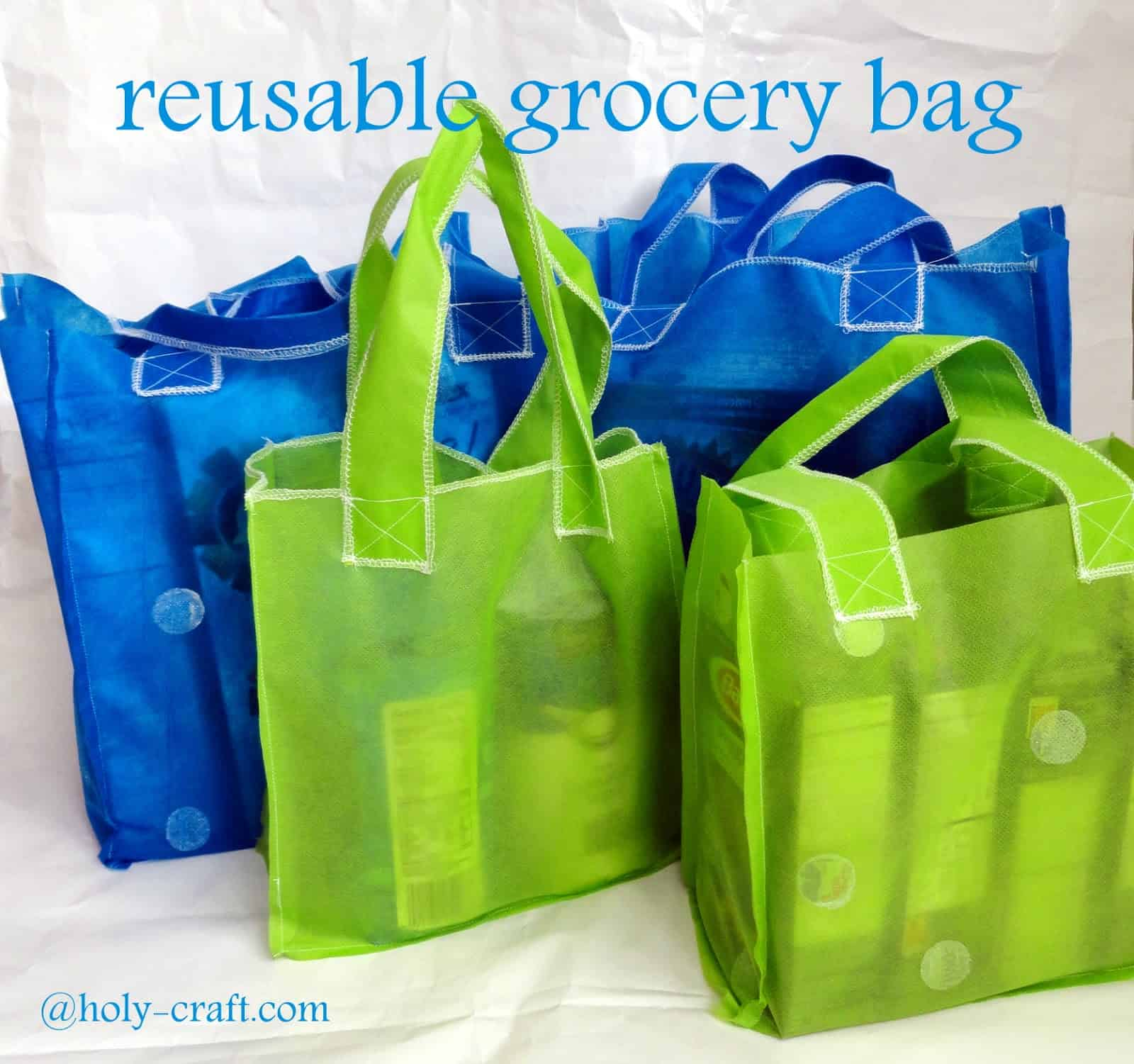Easily folded reusable bag