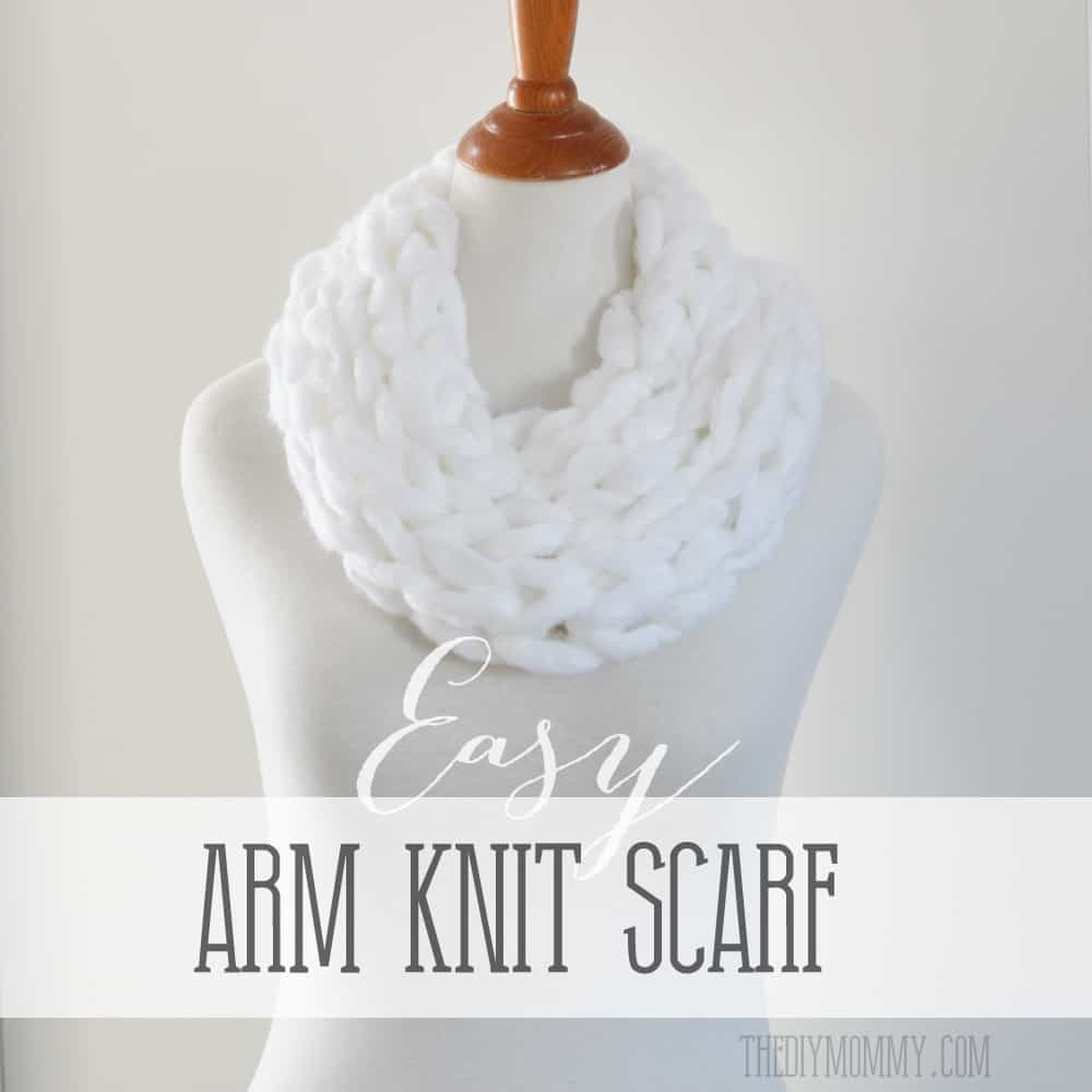 Easy DIY arm knit scarf