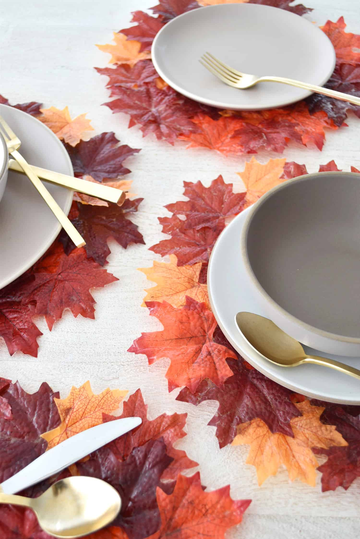 Easy DIY leaf placemats