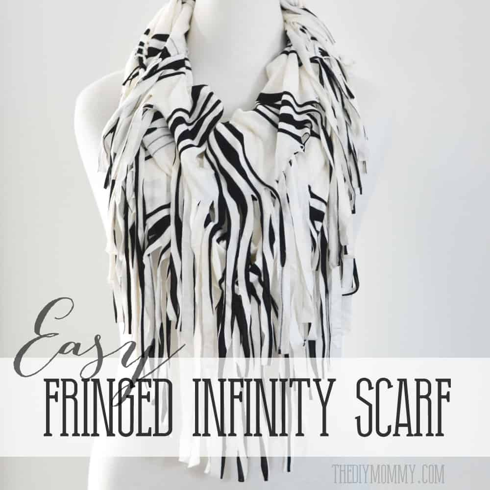 Easy fringed infinity scarf