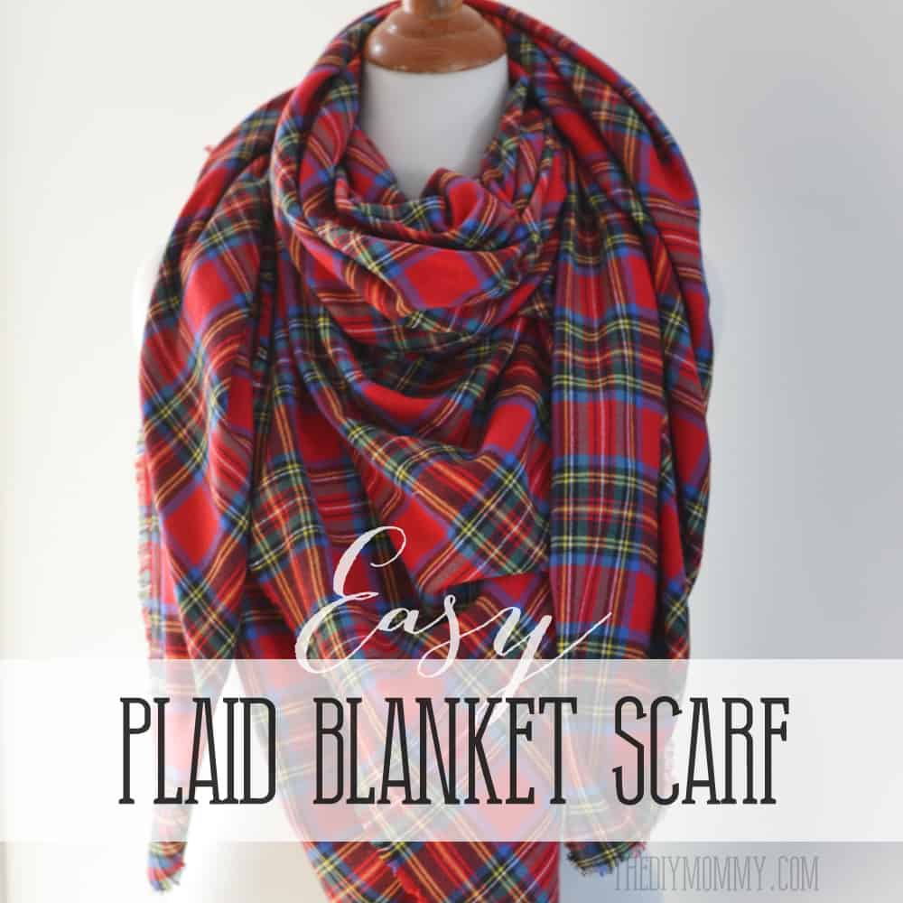 Easy plaid blanket scarf