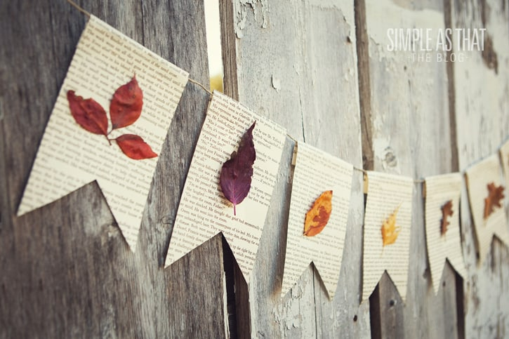 Fall leaf book page banner