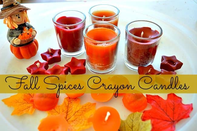 Fall spices crayon candles