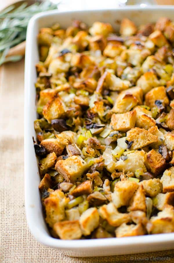 Flavourful sourdough stuffing