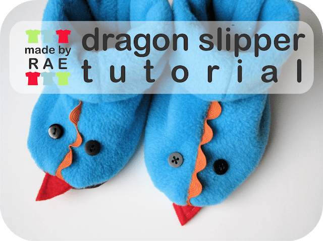Fleecy dragon slippers