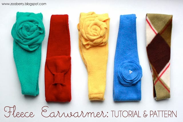 Floral fleece ear warmers