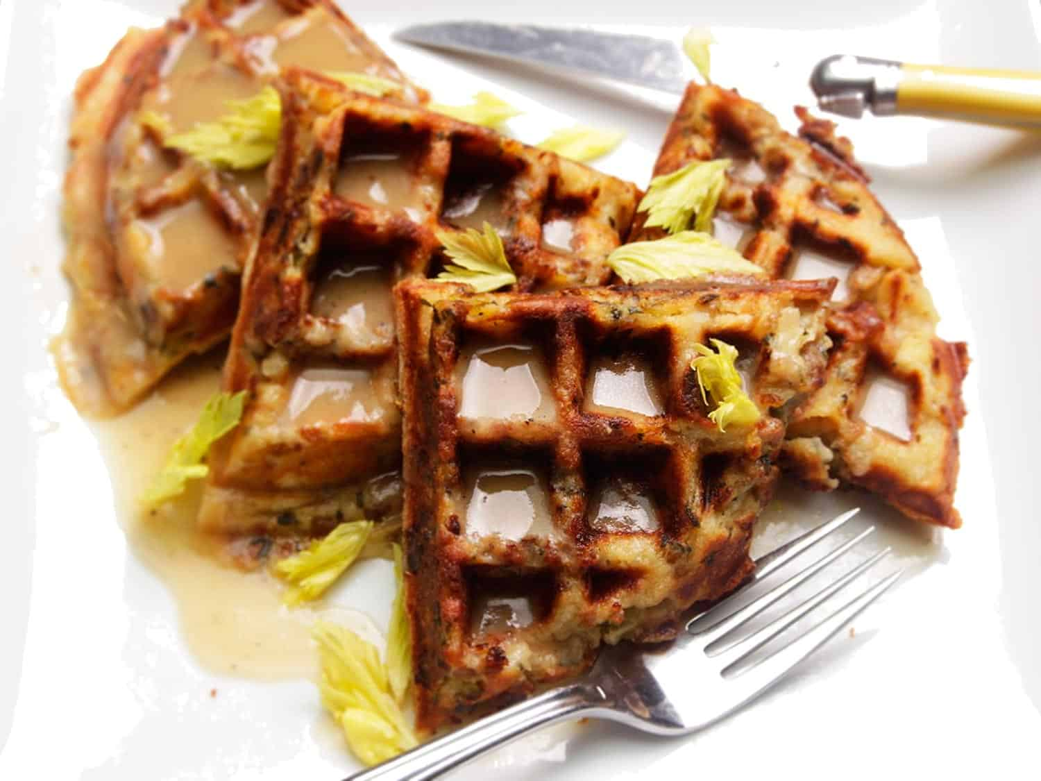 Fragrant stuffing waffles