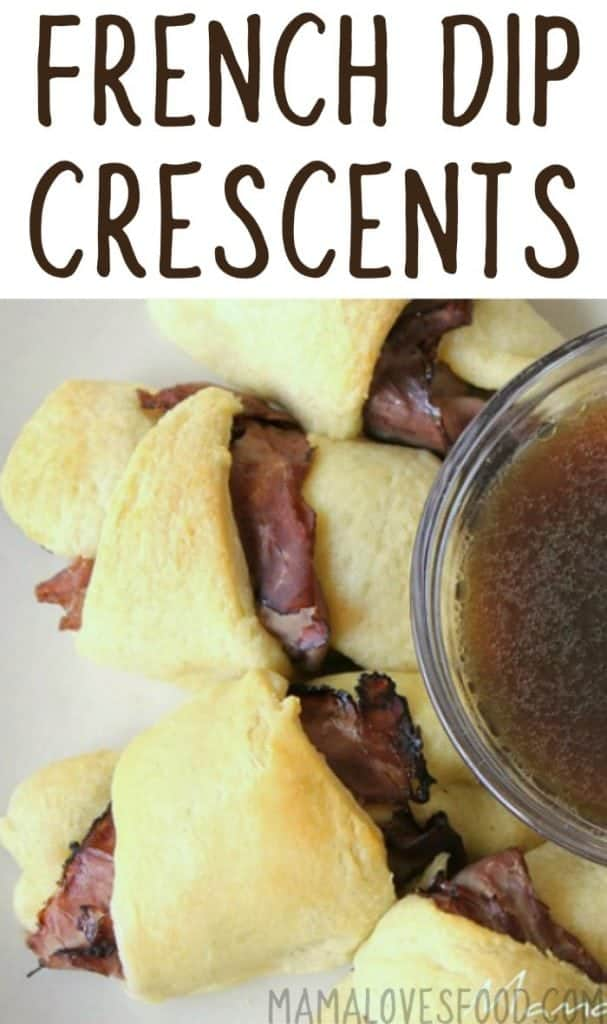French dip crescents with au jus